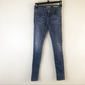 Guess Power ultra Skinny Blue distressed Jeans 23